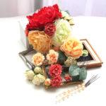 ピオニーとバラを組み合わせたパーツセット(16パーツ)