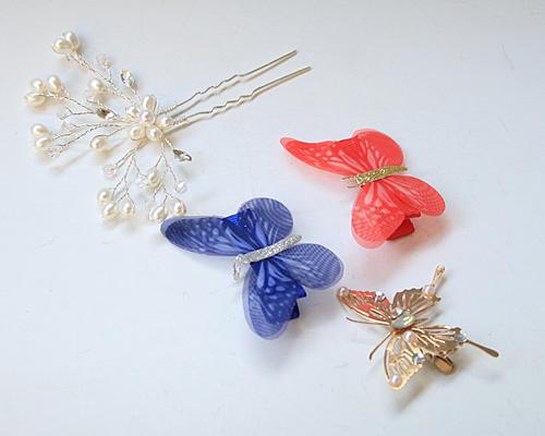 蝶とパールのパーツ