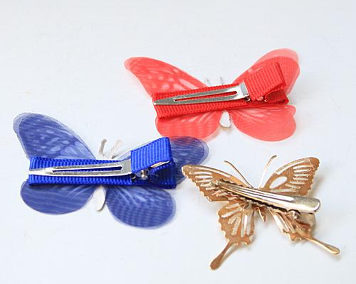 蝶のパーツ・クリップ